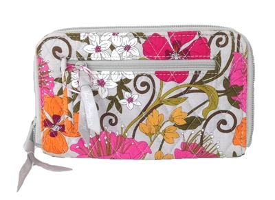 Vera Bradley Zip Around Wallet Wristet Tea Garden
