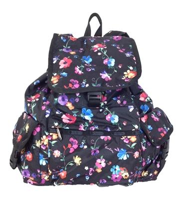 lesportsac voyager backpack impressionist flower. Black Bedroom Furniture Sets. Home Design Ideas
