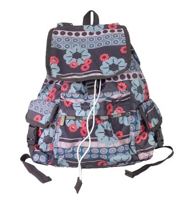 lesportsac voyager backpack folk flora. Black Bedroom Furniture Sets. Home Design Ideas