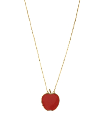 Kate spade nyc apple pendant necklace red kate spade nyc apple pendant necklace aloadofball Images