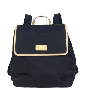 Kate Spade Kennedy Park Neko Nylon Backpack Black